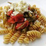 Fagiolini integrali con fagiolini e feta...ottimo piatto unico