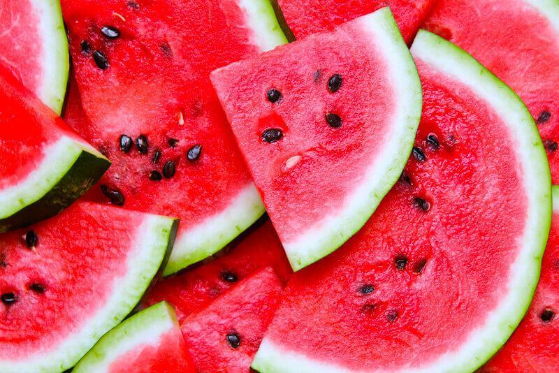 L'anguria buona fresca dietetica e salutare