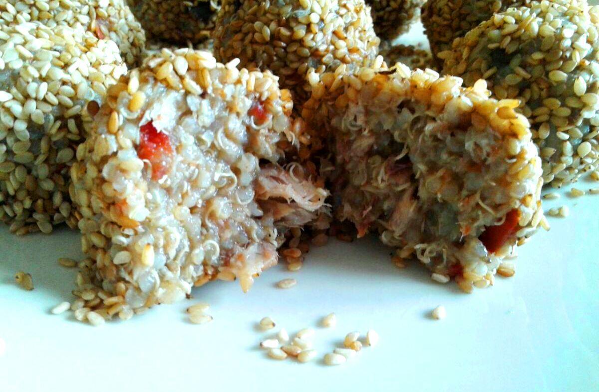 Tanta salute polpette quinoa melanzane sgombro-particolare